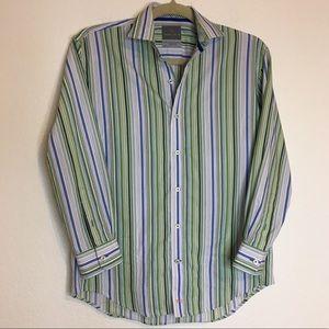 Thomas Dean Boy Shirt Collar Striped Button 10/12